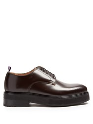 Eytys Kingston Leather Derby Shoes Dark Brown