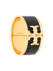 Tory Burch Black Enamel Bracelet Metallic