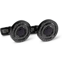 Alfred Dunhill Galaxy Compass Engraved Cufflinks Black