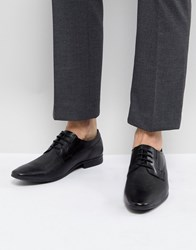 Pier One Embossed Leather Derby Shoes In Black