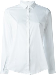 Eleventy Classic Button Down Shirt White