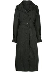 Taylor Zipped Trench Coat Black