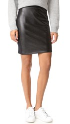 Splendid Faux Leather Skirt Black
