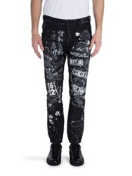 Dsquared Five Pocket Printed Jeans Black