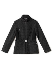Precis Petite Rhiannon Quilted Short Jacket Black