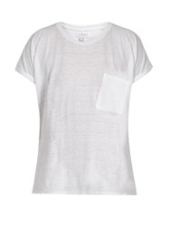 Velvet By Graham And Spencer Denice Patch Pocket T Shirt White