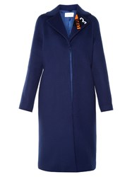 Christopher Kane Tape And Sequin Embellished Coat Navy