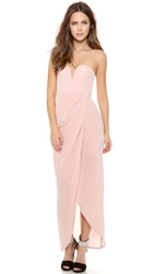 Zimmermann Strapless Drape Maxi Dress Rosewater
