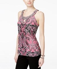 Inc International Concepts Printed Keyhole Halter Top Only At Macy's Pink Finest Paisley