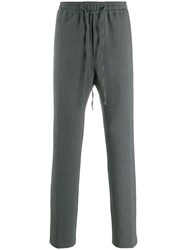 Closed Drawstring Waist Trousers Grey