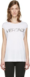 Versace White Muscle T Shirt
