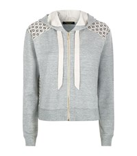 Juicy Couture Lace Insert Hooded Sweater Female