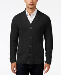 Alfani Men's Two Pocket Textured Cardigan Only At Macy's Deep Black