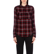 The Kooples Checked Jersey Shirt Black