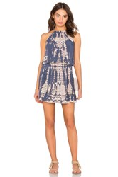 Michael Stars Naomi Wash Front To Back Halter Dress Gray