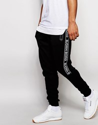 Bjorn Borg Cuffed Joggers In Slim Fit Black