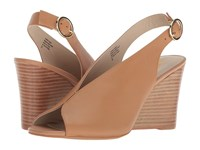 Seychelles Dazzling Vacchetta Leather Wedge Shoes Beige