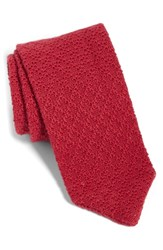The Tie Bar Knit Linen And Cotton Red