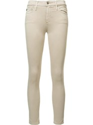 Ag Jeans 'Farrah' Skinny Trousers Nude Neutrals