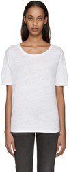 Earnest Sewn White Linen Julia T Shirt