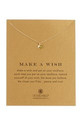 Dogeared Make A Wish 14K Gold Plated Sterling Silver Peridot Necklace Metallic