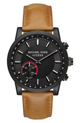 Michael Kors Access Scout Hybrid Leather Strap Smart Watch 43Mm Brown Black