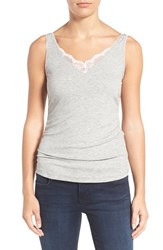 Wit And Wisdom Women's Lace Trim Side Ruched Tank