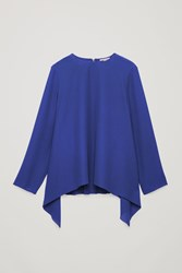 Cos A Line Top With Pleated Back Blue