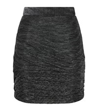 Maje Janaud Lurex Ruched Tube Skirt Female Black