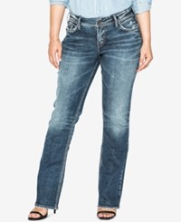 Silver Jeans Co. Plus Size Suki Slim Boot Cut Indigo