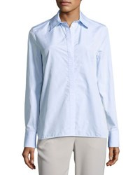 Thakoon Lace Insert Shirt Blue