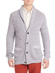 Billy Reid Textured Cardigan Grey