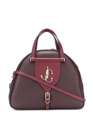Jimmy Choo Varenne Bowling Tote Red