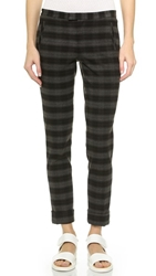 Atm Anthony Thomas Melillo Plaid Slim Pant Grey Plaid