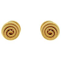 Monet Spiral Ball Stud Earrings Gold