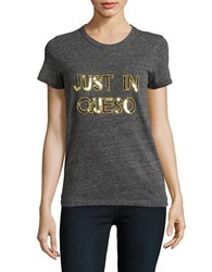 Bow And Drape Just In Queso Tee Grey