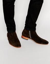 Jeffery West Suede Zip Boots Brown