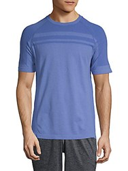 Mpg Ribbed Raglan Sleeve Tee Cobalt