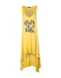 Odi Et Amo Dresses 3 4 Length Dresses Women Yellow