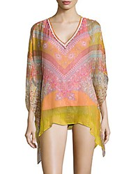 Hale Bob Printed Cover Up Tunic Blue