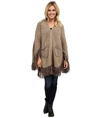 Scully Euphrates So Soft Poncho Taupe Women's Coat