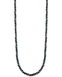 Anne Klein Multi Bead And Crystal Long Statement Necklace Jet
