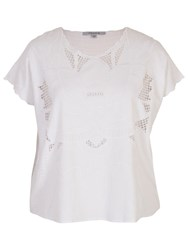 Chesca Embroidered Top White