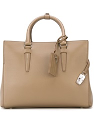 Agnona Square Shaped Tote Bag Nude And Neutrals