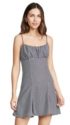 C Meo Collective Provided Mini Dress Black Houndstooth