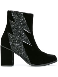 House Of Holland Thunder Detail Ankle Boots Black