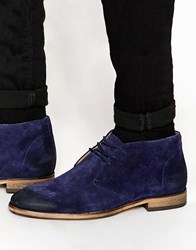 Selected Homme Bolton Suede Chukka Boots Blue