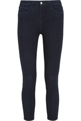 L'agence The Margot Cropped High Rise Skinny Jeans Dark Denim