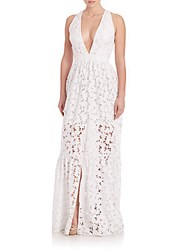 Sachin Babi Heaven V Neck Dress Ivory