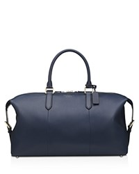Smythson Burlington Carry On Bag Navy